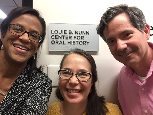 team members at the Nunn Center for Oral History