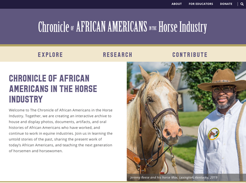 home page design for the Chronicle website